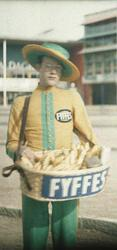 Försäljning av Fyffes bananer. Stockholmsutställningen 1930