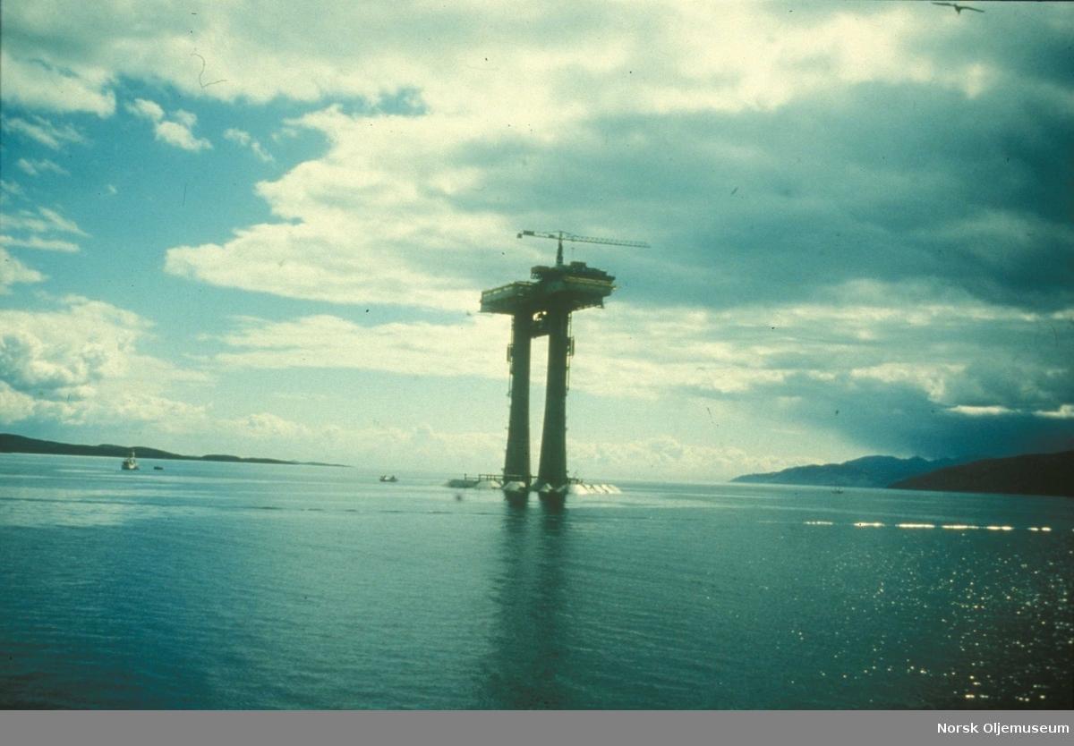 TP1 klar for utslep fra Ardyne Point i 1976