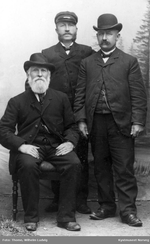 Vikna, den første fyrbetjentene ved Nærøysund og Grinna fyr
