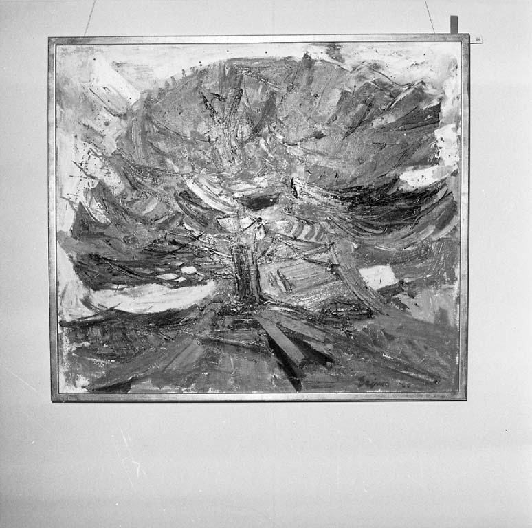 Målning av Kurt Dejmo signerad 1960. Galleri Nyttokonst, Uddevalla