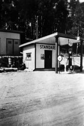 Johannessons bensinstation vid riksgränsen Vassbotten