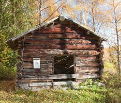 Løe fra Øyestølen på Veståsen Ål Bygdamuseum, Leksvol