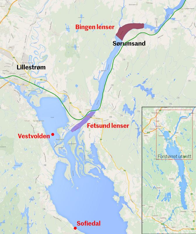 Fløtingsanleggene i Nordre Øyeren.
