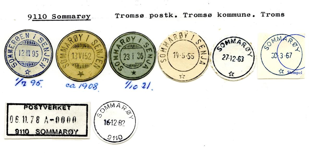Stempelkatalog  9110 Sommarøy, Tromsø kommune, Troms