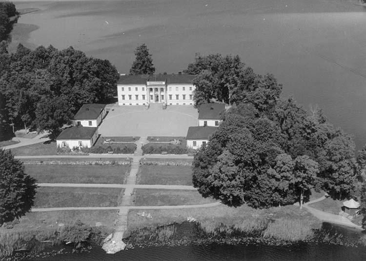 Stjärnsunds slott, Askersund.Bilden tagen för vykort.
