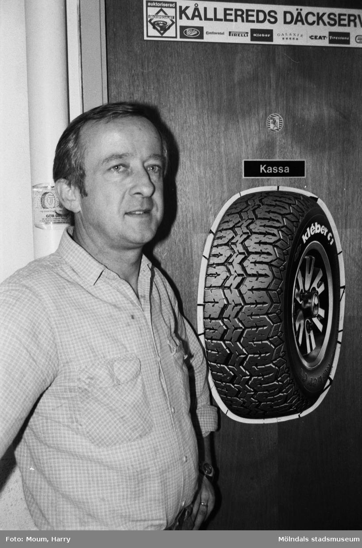Sture Daun, ordförande i Kållereds Företagsklubb, år 1983.  För mer information om bilden se under tilläggsinformation.