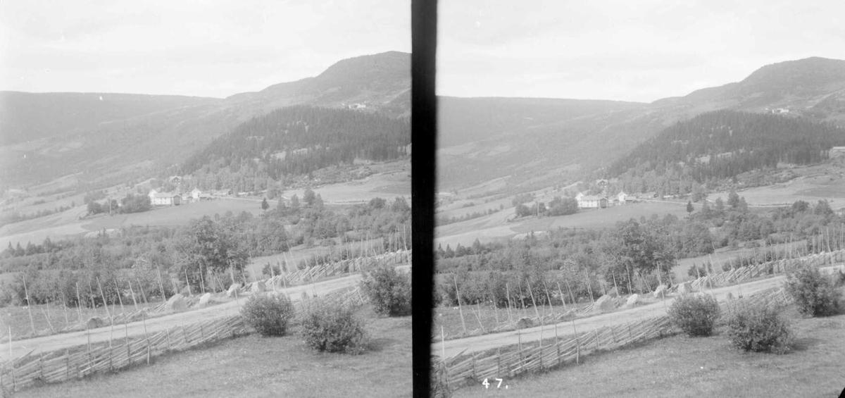 Gausdal, utsikt fra Austreng, vestover