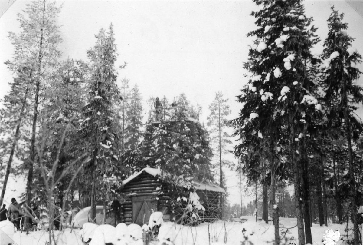 finlandskriget. timrad stuga - miliseum / digitaltmuseum
