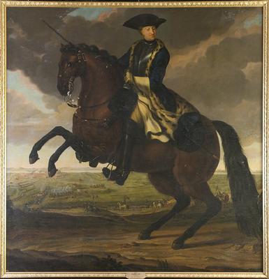 Maleri av Karl XII til hest