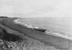 Fra stranden i Grense Jakobselv utenfor elvemunningen, 1905.