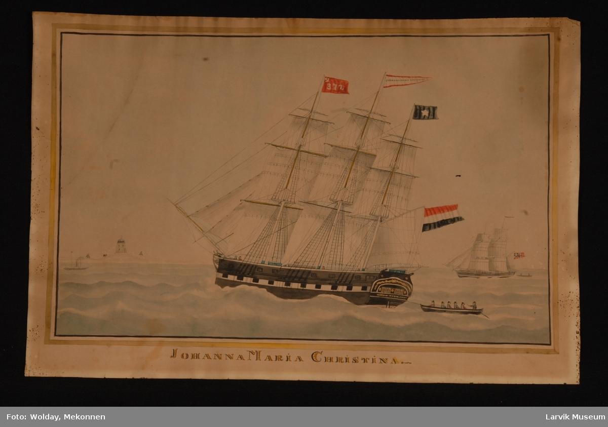 Fullrigger Johanna Maria Christina under nederlandsk flagg