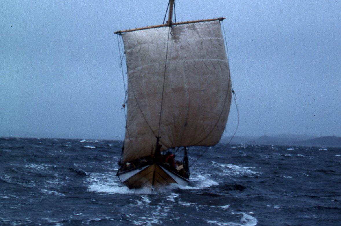 Åfjordsbåt. Torskegarnsbåt (fembøring), 40-48 ft. (Foto/Photo)