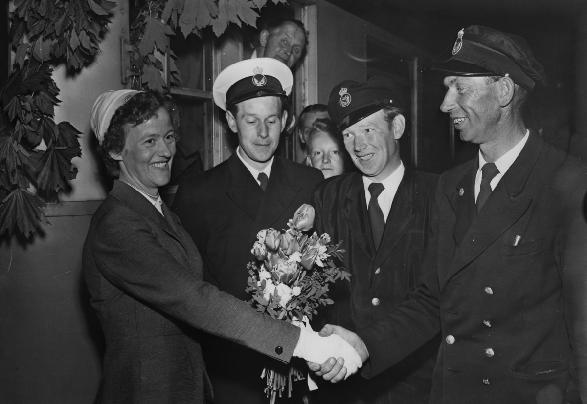"Till höger Karl-Erik Nilsson ""Tjurfäktaren"", 1959."