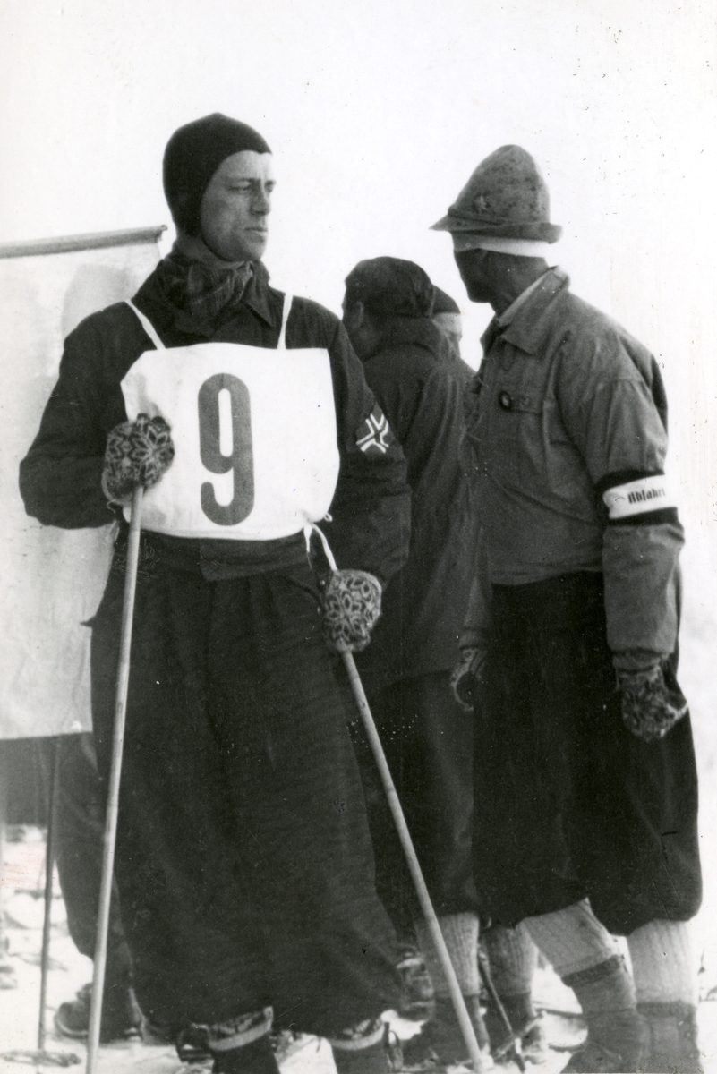 Kongsberg skier Alf Konningen at Garmisch