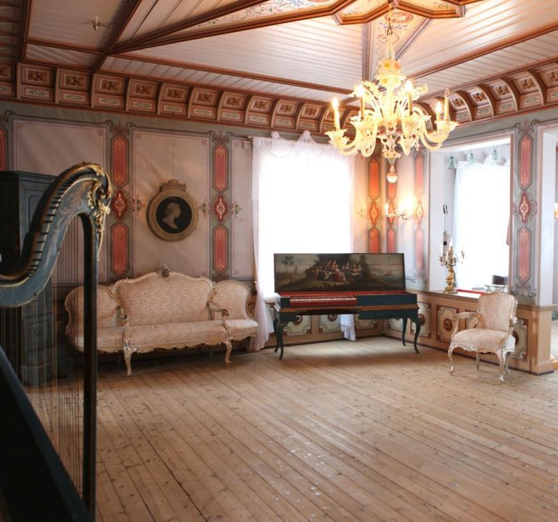 Mozartrommet i utstillingen i Hovedbygningen