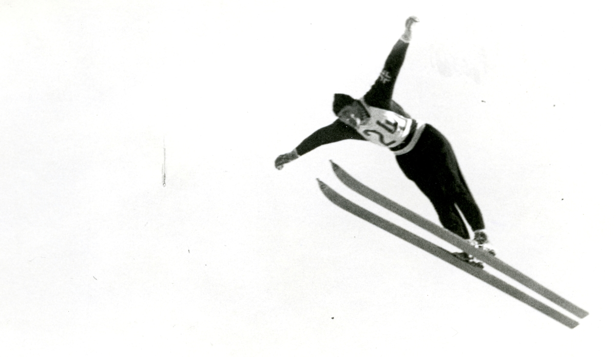 Norwegian ski jumper at Garmisch
