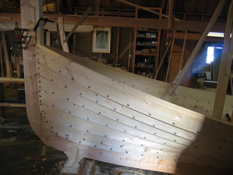 Børsabåten Eivind under bygging. Dette er framstevnen. (Foto/Photo)