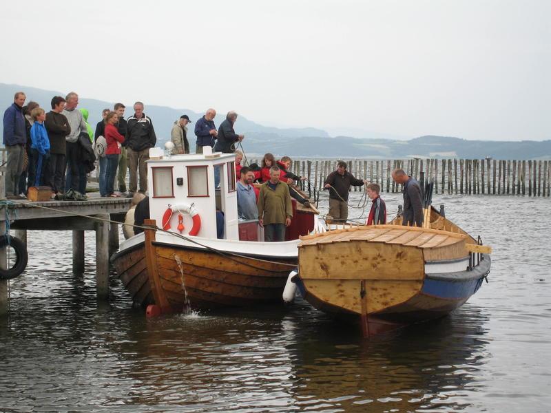 Børsabåten Eivind på sjøen for første gang. (Foto/Photo)
