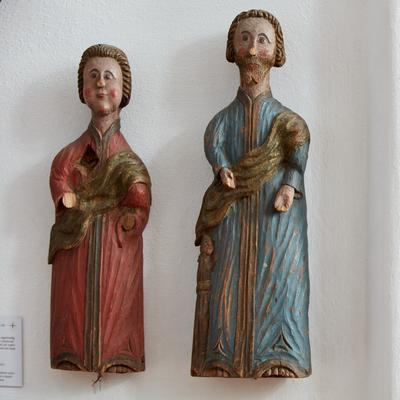 Two Evangelists. In Norwegian Church Art