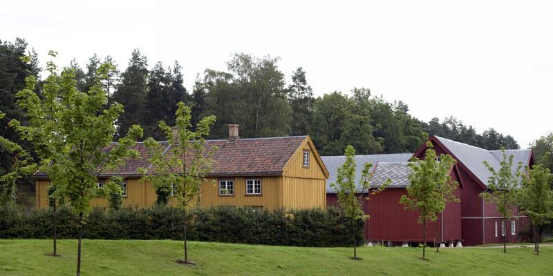 Trøndelagstunet på Norsk Folkemuseum med Stiklestadlåna