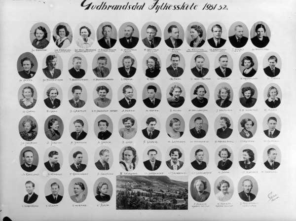 Ringebu. Gudbrandsdal fylkesskule 1951-52