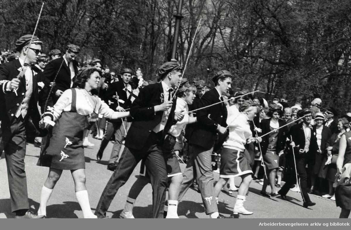 Russ.Russetog på Karl Johans gate.17. mai..1965 - 1967.