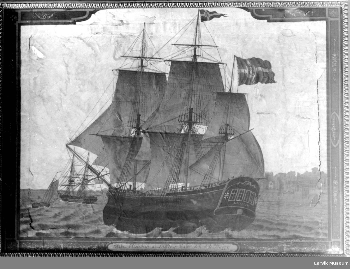 "fartøy, seilskip, ""Elisabeth"" av Laurvig"
