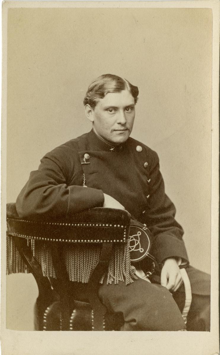 Porträtt av Carl Malcolm Lilliehöök af Gälared och Kolbäck, underlöjtnant vid Värmlands regemente I 22.