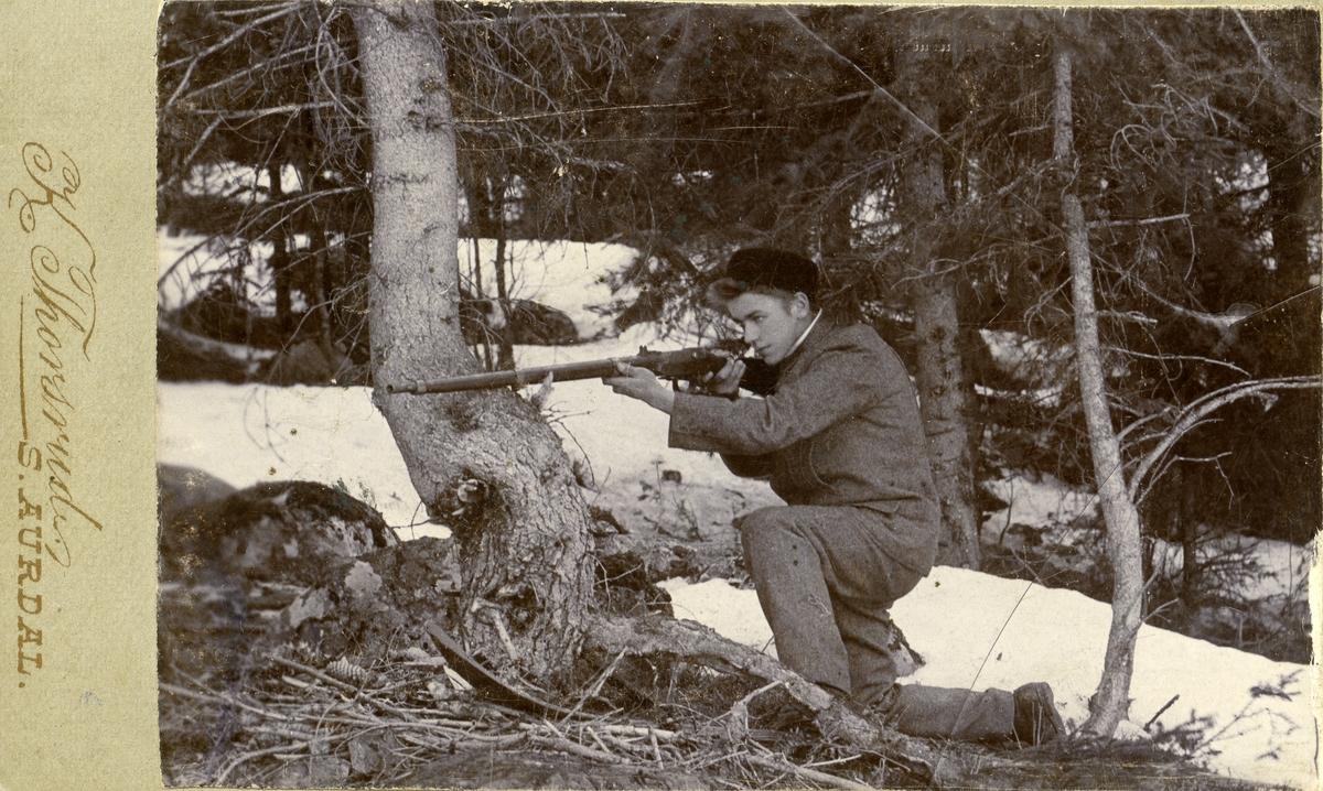 Erik A. Brubakklykkja på jakt.