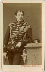 Porträtt av Olof Stellan Mörner, underlöjtnant vid Kronprins