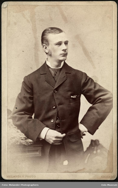 portrett, mann, stående halvfigur