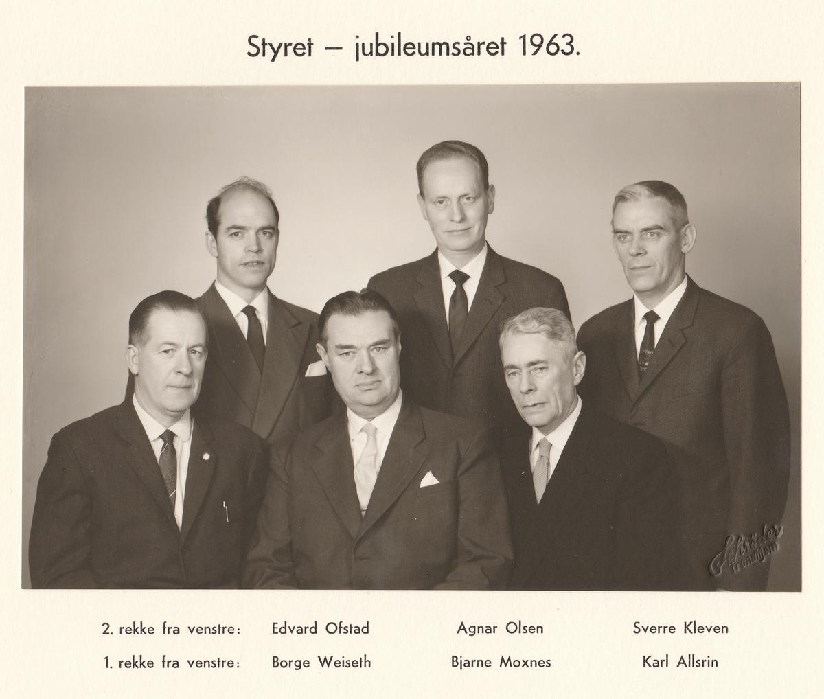 Styret - jubileumsåret 1963