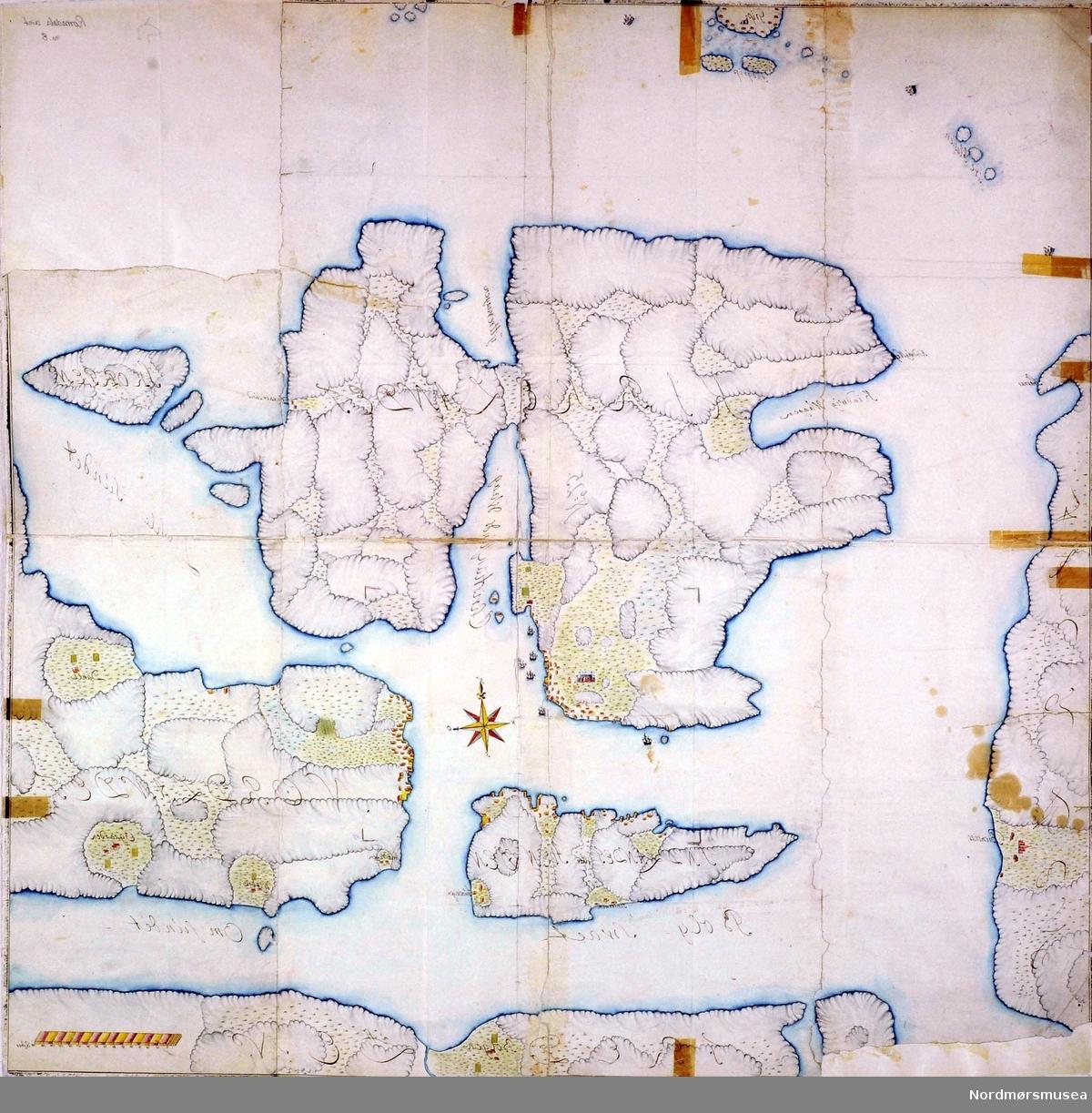kart over eiendommer i norge Gammelt kart over Kristiansund. Kart over Kristianssund med Omegn  kart over eiendommer i norge
