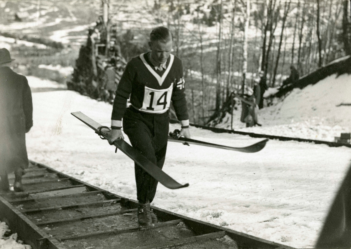 Athlete Sigmund Ruud during OG in Lake Placid