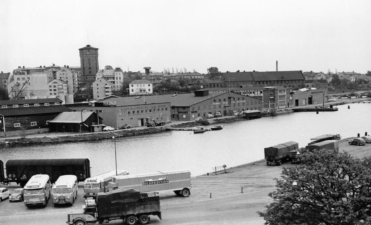 Vy över Inre hamn tagen runt 1960.