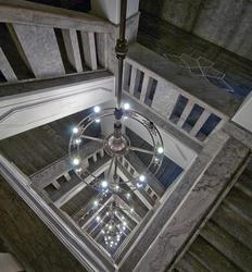 Lysekrone i Telegrafbygningen i Kongensgate 21, Oslo (Foto/Photo)
