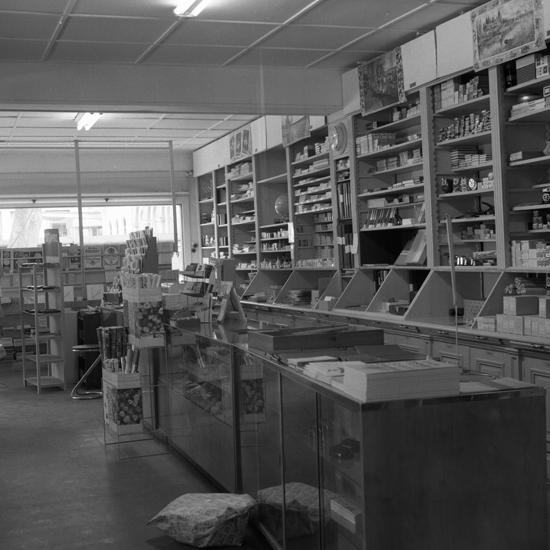 Bröderna Anderssons Pappershandel, maj 1967. Exteriör o. interiör  Fotograf: S. Selling.
