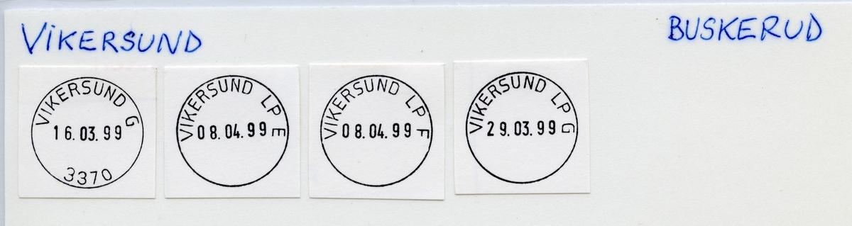 Stempelkatalog  3370 Vikersund, Modum kommune, Buskerud