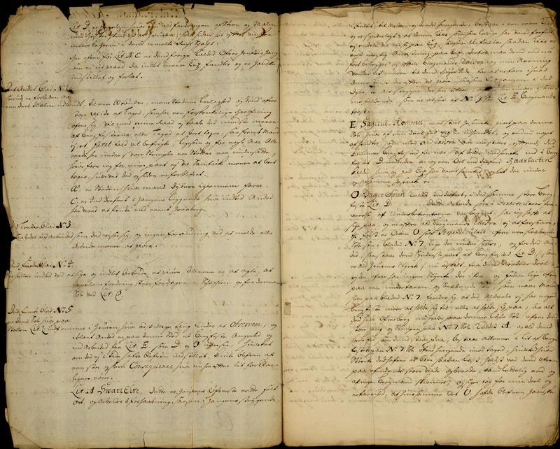 "Del av en ""Afsikt og Relation ang. Löckens Werck"" fra 2. juni 1703."