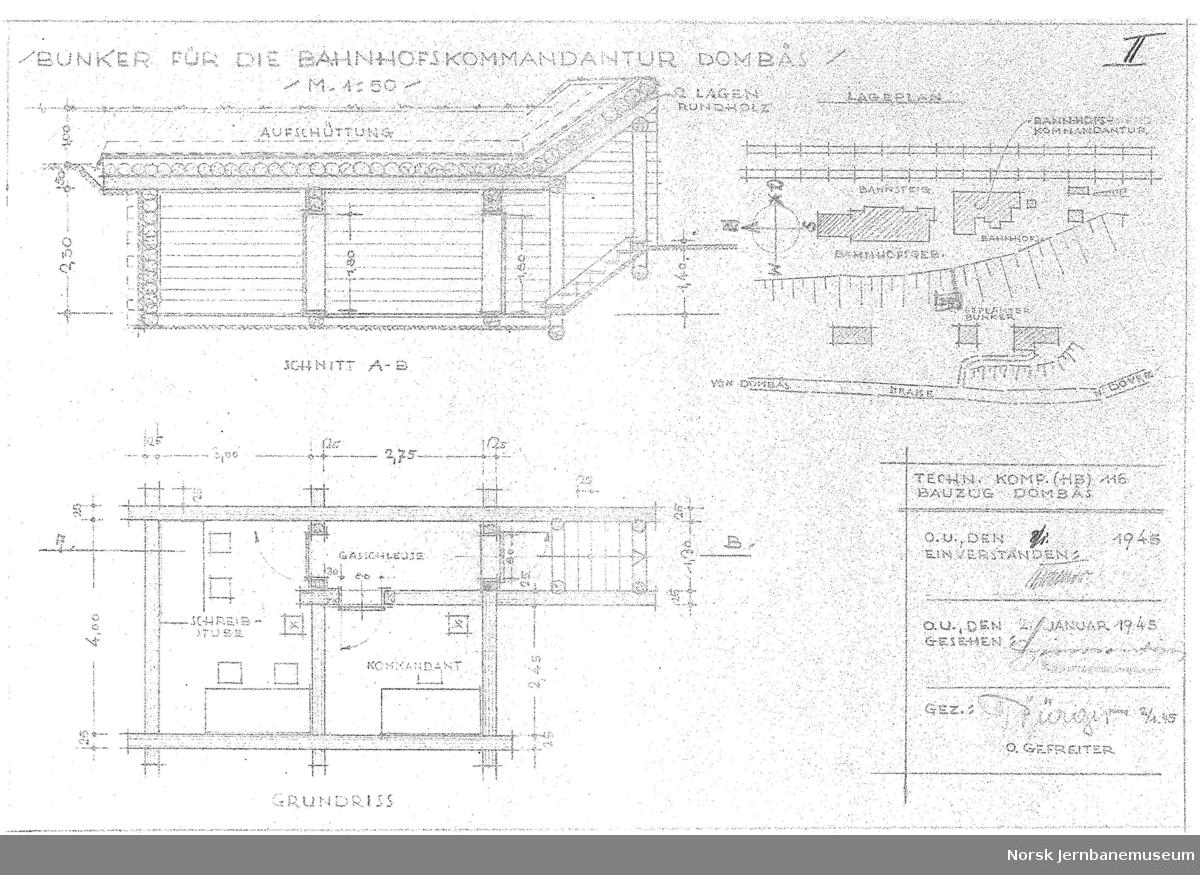 Bunker für die Bahnhofskommandantur Dombås