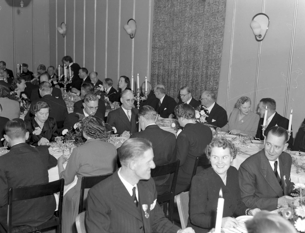 Valbo Omnibuss AB jubileum festligheter på Baltic. 24 november 1950
