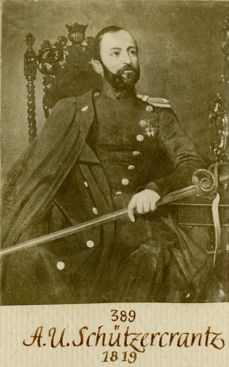 Porträtt av Adolf Ulric Schützercrantz, kapten vid Andra livgardet I 2.