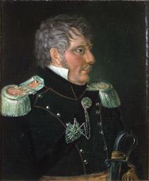 Portrett av Frederik H. J. Heidmann. Mørk uniform m/epåletter. (Foto/Photo)