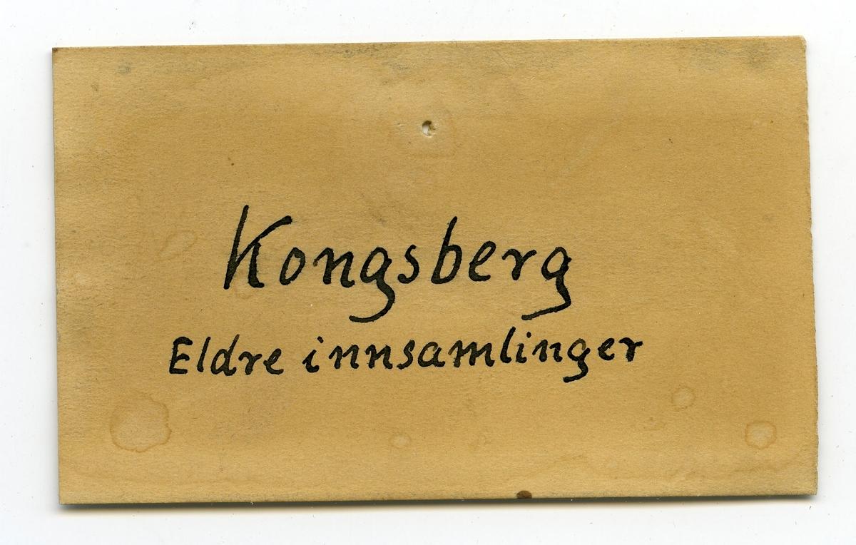 Etikett i eske: Kongsberg Eldre innsamlinger
