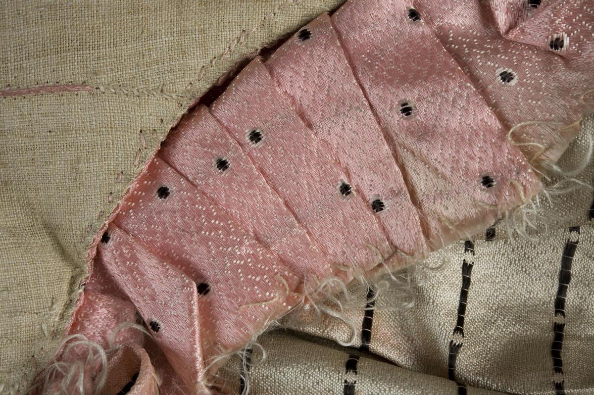 Detalj av rokokko pikekjole på Norsk Folkemuseum (Foto/Photo)