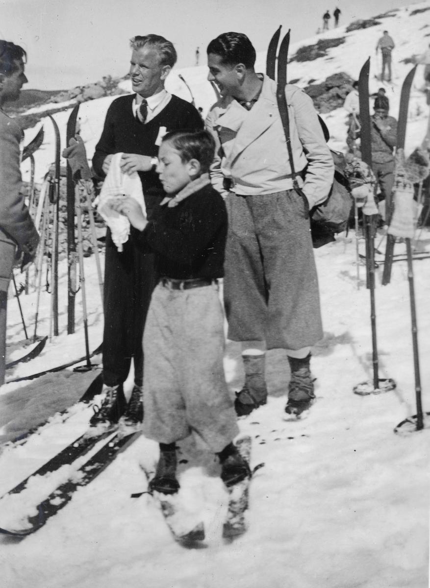 Athlete Sigmund Ruud skiing in Europe