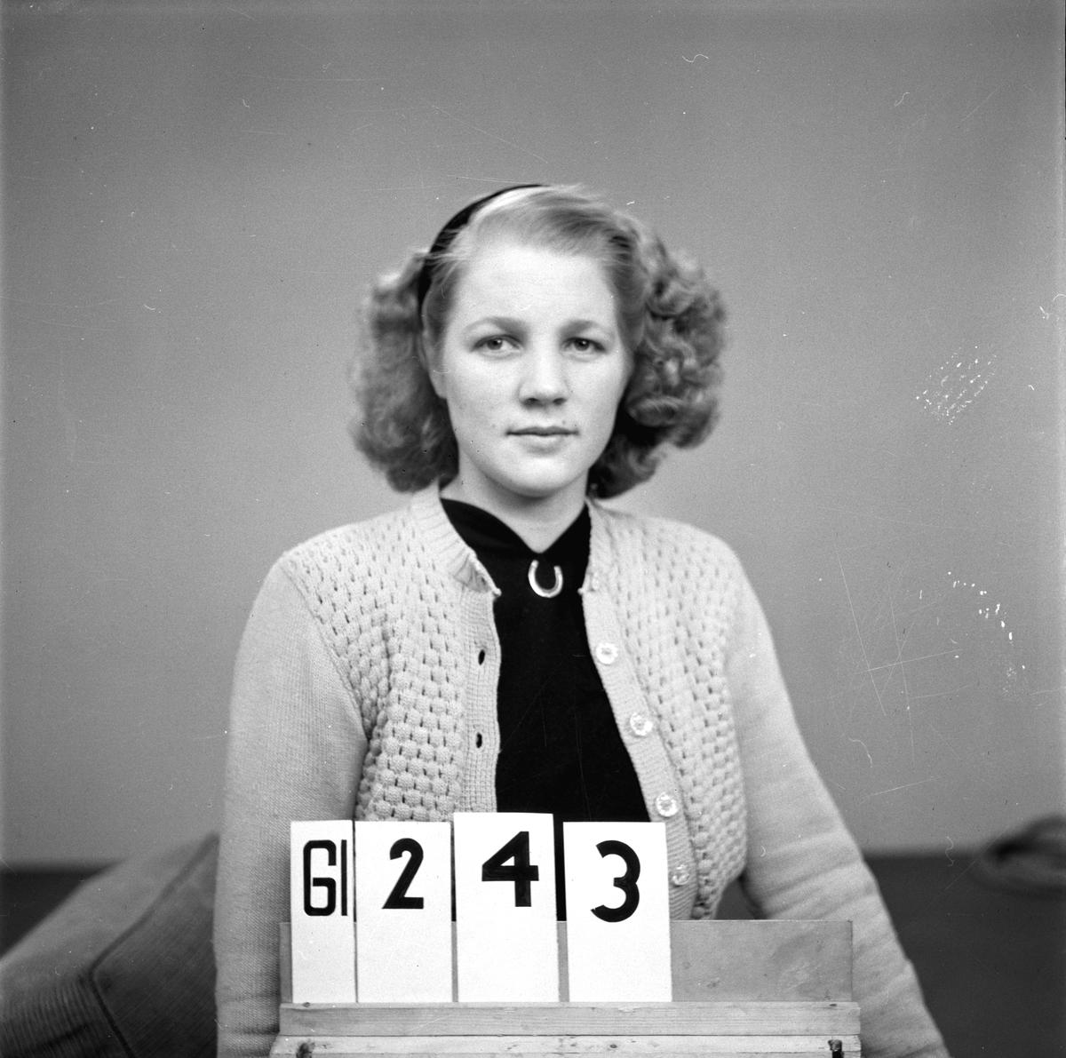 Telegrafverkets legitimationskort. År 1949.              (Inget namn angivit på fotopåsen).