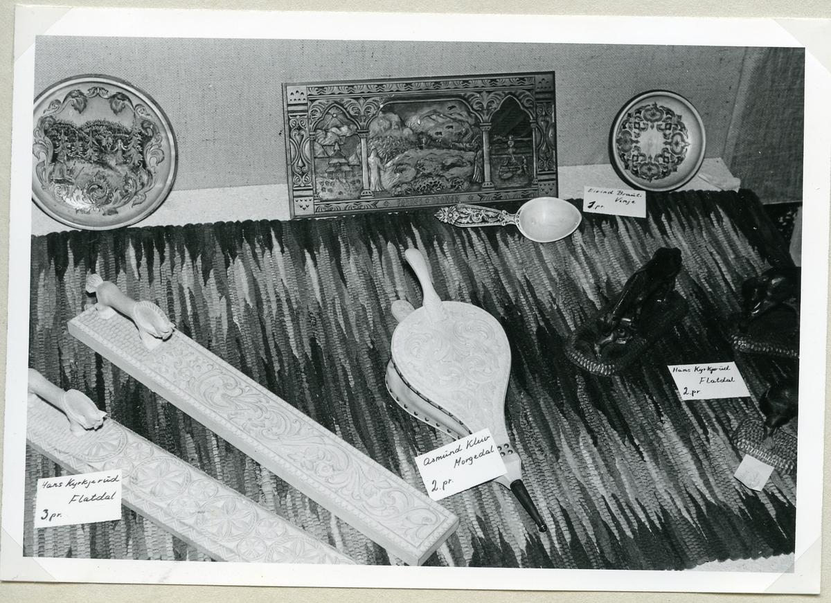 Frå husflidutstillinga i 1966.
