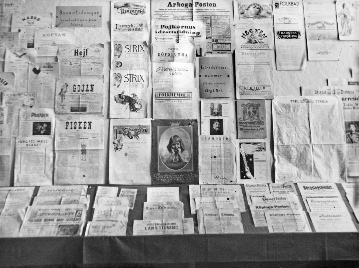 Gamla museets basutställning, 1943. Tidningar.