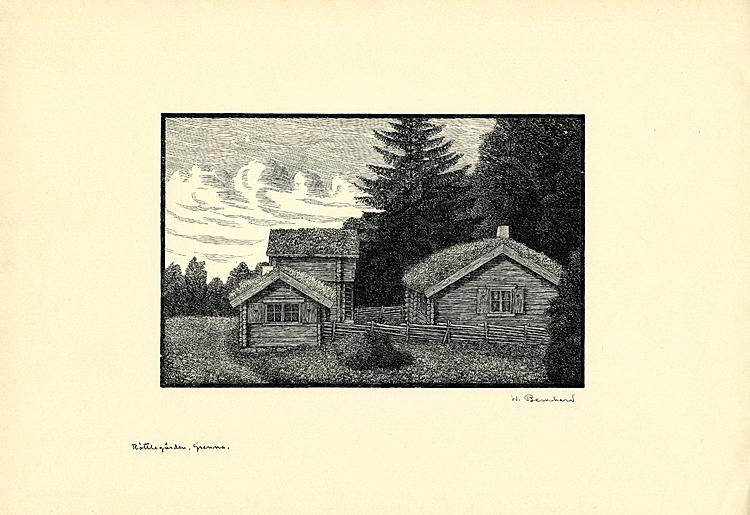 Originalträsnitt. Röttlegården, Gränna.